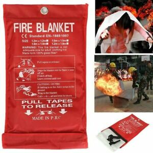 Emergency Fire Blanket Quick Release In Case For Home Office Car 1mx1mx0 3mm
