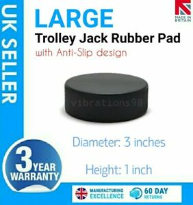 Large Heavy Duty Rubber Pad For Hydraulic Floor Trolley Jack Prevents Damage