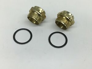 2 Pack Holley Carburetor Fuel Bowl Inlet Fitting 7 8 20 Fits 3 8 Line 26 26