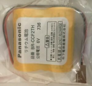 Brand New Panasonic Br ccf2th Br c Plc 6v 5000mah Lithium Battery With Wire