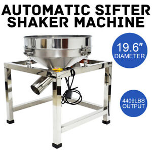 Automatic Vibration Sifter Shaker Machine 110v Grid Design Particle Efficiency