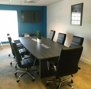 10 Ft Foot Modern Conference Table Gray New