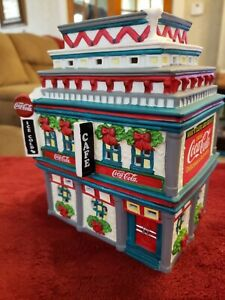 Coca Cola Town Square Collection Christmas Building Village Moe's Cafe - 1998