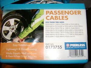 Snow tire Cable Chains Peerless 0173755 215 55 16 205 60 16 225 45 16