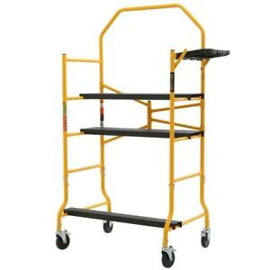 Metaltech Jobsite Series 5 Ft X 4 Ft X 2 1 2 Ft Scaffold 900 Lbs Load Capacity