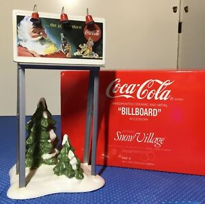 Dept 56 Snow Village Coca-Cola Brand Billboard 54810 NEW