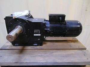 2 Hp Nord Electric Motor With Dual Output Gearbox Speed Reducer 2 1 8 Shaft