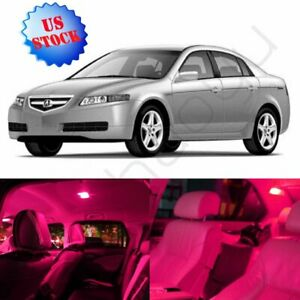 11x Pink Purple Car Smd Interior Package Led Lights Combo For Acura Tl 2004 2008
