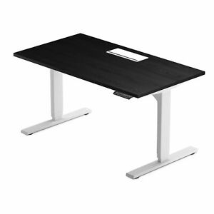 Electric Standing Desk Adjustable Height 60 x30 Ebony Ash White Frame