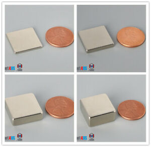 Multiple Thickness 19mm 3 4 Width Square Rare Earth Neodymium Block Bar Magnets