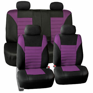 Air Mesh Car Seat Covers For Auto Car Suv Van With 4 Headrest Covers Purple