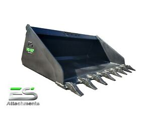 66 Heavy Duty High Capacity Tooth Bucket Skid Steer Quick Attach Local Pickup