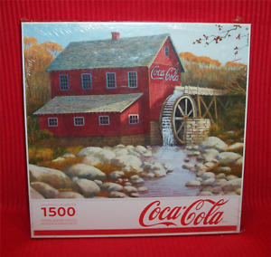 New Sealed Springbok Coca Cola Old Grist Mill 1500 Pc Puzzle