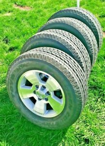 Set Of 4 04 Toyota 4runner Factory Oem 17 Rims With Lightly Worn Toyo H T Tires