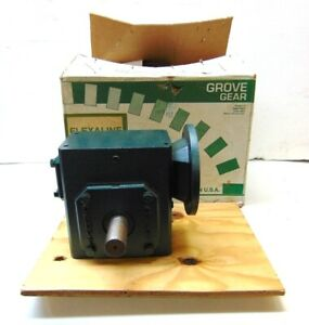 Grove Right Angle Worm Gear Speed Reducer Bmq1262 2 2 392 Hp 20 1 Ratio 56c