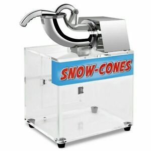 Commercial Electric Snow Cone Ice Shaver Maker Hawaiian Shaved Ice Machine