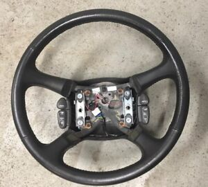 1999 2002 Chevy Silverado Gmc Sierra S10 Jimmy Steering Wheel Leather W Controls