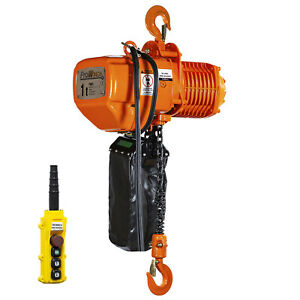 Prowinch 2 Speed 1 Ton Electric Chain Hoist 20 Ft G100 Chain M4 h3 230 380 460v