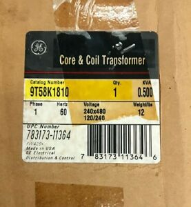 Ge 9t58k1810 Core And Coil Transformer Spectrum P n 4epc6552a