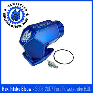 Sinister Diesel Hexagon Intake Elbow For 2003 2007 6 0l Powerstroke