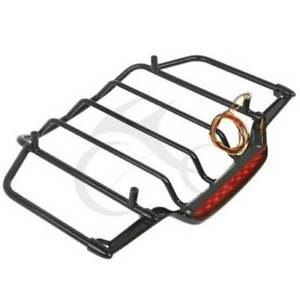 Black Tour Pack Pak Luggage Rack For 2014 2019 Harley Street Electra Road Glide