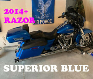 Superior Blue Razor Tour Pak Fit Harley Touring Street Electra Road Glide 97 20