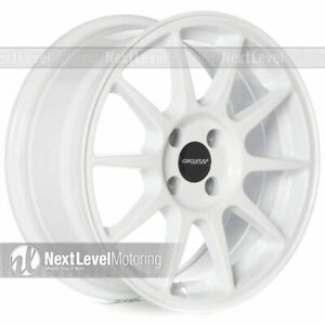 Circuit Cp23 16x7 4 100 35 Gloss White Wheels Type R Fits Acura Integra Jdm