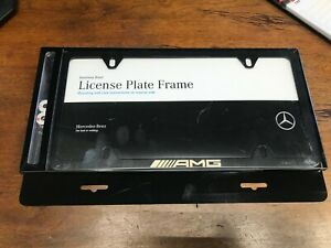 Genuine Mercedes Benz Factory Black Amg Slimeline License Plate Frame New