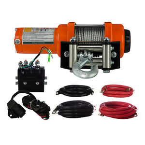 Prowinch 3000 Lbs Electric Winch Wire Rope 24v