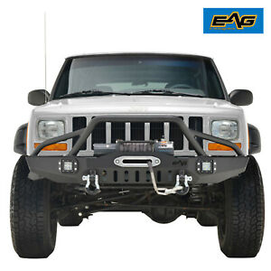 Eag Front Bumper With Led Lights Fit 1984 2001 Jeep Cherokee Xj