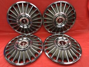 Vintage Set Of 4 1967 Ford 14 Hubcaps Mustang Good Condition