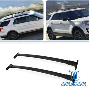 Fit For 2016 2018 Ford Explorer Roof Rack Aluminum Cross Bars Luggage Carrier