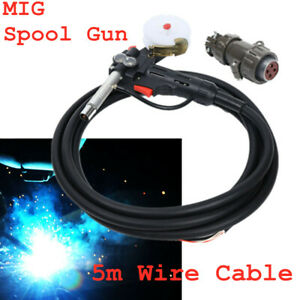 Mig Spool Gun Gas Shielded Welding Gun 16ft Lead Push Pull Feeder New Stock