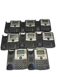 Lot Of 8 Cisco Linksys Spa942 4 line Business Ip Voip Office Display Telephones