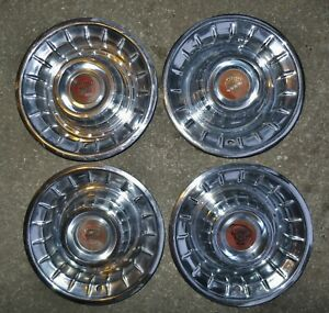 1956 Cadillac Hubcaps Nice Set 56 Cadillac Sombrero Wheel Covers Stored 50 Years