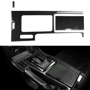 3pcs For Ford Mustang 2009 13 Carbon Fiber Interior Gear Shift Box Panel Cover