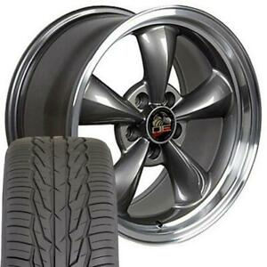 17x8 Rims Tires Fit Mustang Bullitt Style Anthracite Wheels 3448 Toyo Tires