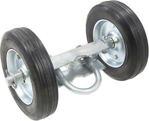 Chain Link Double Wheel Carrier W 6 Solid Rubber Wheels For Sliding Gates