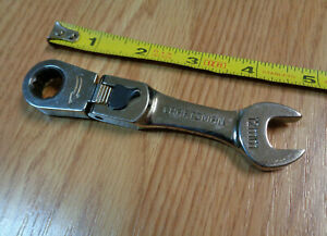 Usa Made Craftsman 12mm Stubby Short Locking Flex Head Ratcheting Wrench Metric