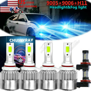 Ice Blue Led Headlight High Low Beam Fog Driving Bulbs For Honda Civic 2006 2015