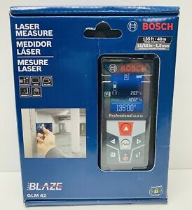 Bosch Glm 42 Blaze Laser Measure 135ft 40m Brand New Fast Shipping