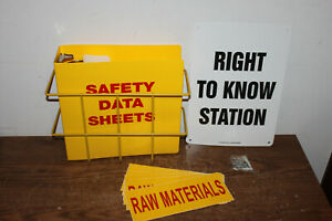 Osha Right To Know Station Sign sds Binder Wire Rack Stickers
