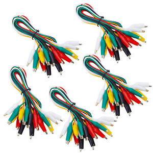 Wgge Wg 026 50 Pieces And 5 Colors Test Lead Set Alligator Clips 20 5 Inches