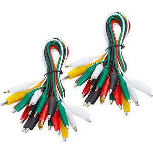 Wgge Wg 026 20 Pieces And 5 Colors Test Lead Set Alligator Clips 20 5 Inches