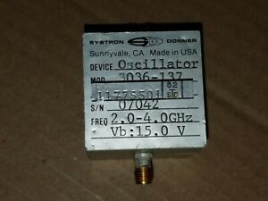 Systron Donner 3036 137 Rf Microwave 2 4ghz Yig Tuned Oscillator Sma f 07042