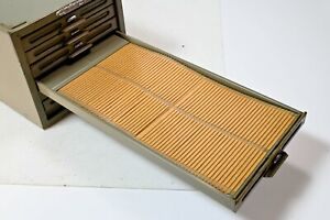 Vintage 1960s Remington Rand Kardex 6 Drawer Metal Cabinet Industrial Card File
