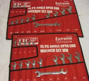 Special 2 Open End 4 way Angle Wrench Sets Sae Metric Extreme Torque Line