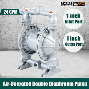 Usa Air operated Double Diaphragm Pump 1 Inlet Outlet Petroleum Fluids 24 Gpm