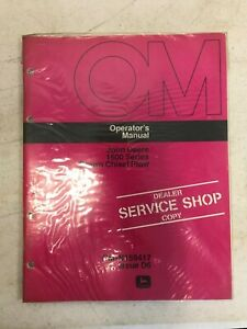 John Deere Dealer Copy Operators Manual 1600 Drawn Chisel Plow Om n159417 D6