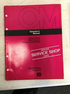 John Deere Dealer Copy Operators Manual 1600 Drawn Chisel Plow Om n159307 H2